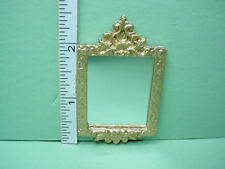 Dollhouse Miniature Gilded Mirrored Frame - Unique  #OM4 - 1/12th Poly-Resin