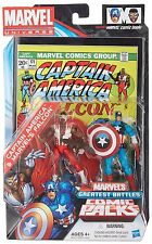 "Marvel Universe CAPTAIN AMERICA & THE FALCON 3.75"" figure Comic boxed set RARE"