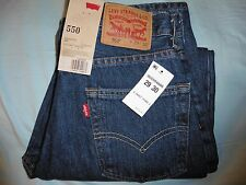 NWT - Levis 550 Mens Relaxed Fit Tapered Leg Denim Blue JEANS 29 X 30 NEW!