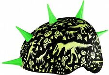 Krash X Child Youth Bike Skateboard Helmet - Dino Bones Spike Safety