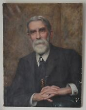 Oil on Canvas Portrait Chairman of the British Homoeopathic Association Signed