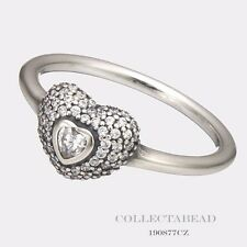 Authentic Pandora Sterling Silver In My Heart Ring Size 52 (6)   190877CZ
