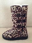 UGG Boots 3 Buttons Synthetic Wool Colour Brown Leopard Multi Size