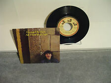 George Harrison  - All Those Years Ago - 45 Record And Picture Sleeve 1981