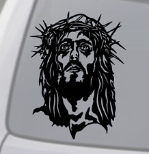 JESUS FACE Vinyl Decal Sticker Car Window Wall Bumper God Love Christ Holy Bible