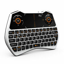 Hot! 2.4G Rii i28 white mini Wireless Touchpad Air Mouse Keyboard for smart TV