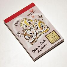 Made in Japan Disney Chip 'n' Dale & Clarice mini memo pad 85 sheets