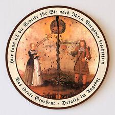 Hochzeitsscheibe Frischvermählte Tracht Schützenscheibe 41cm Wunschtext 63