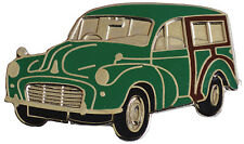 Morris Minor Traveller car cut out lapel pin - Green