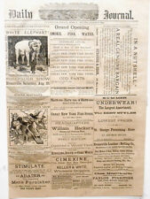 Newspaper Adam Forepaugh 4 Ring Circus White Elephant Evansville Indiana 1884