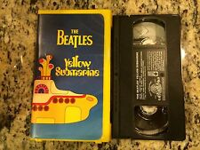 THE BEATLES YELLOW SUBMARINE OOP VHS IN YELLOW CLAMSHELL LIKE NEW ANIMATED FILM!