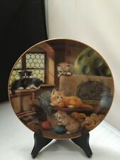 Am Kachelofen German Cat Plate Jurgen Schulz