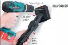 DRILL VACUUM ATTACHMENT - INGENIOUS DUST COLLECTOR CATCHES DUST AS YOU DRILL