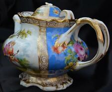 Exquisite 1890s Hand Painted Victorian Teapot RK Dresden Germany Porcelain