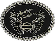 GENUINE BELT BUCKLE HARLEY DAVIDSON GIRL WOMAN GIFT BAR&SHIELD LADY BIKER STRASS