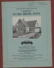 HOVE.  43 Hill Brow. 'Avenay'. 1963.  House Sale auction  Property fb.4