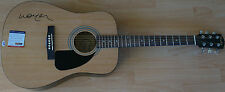 WILLIE NELSON Signed On Body Fender Acoustic Guitar PSA/DNA Certified Autograph