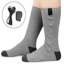 Battery Heated Socks High Tube Feet Foot Warmer Electric Heater Insoles Warm New