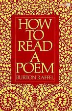 How to Read a Poem (Meridian), Good Books