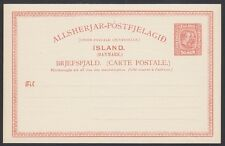 ICELAND, 1907. Post Card  H&G 37, Mint **