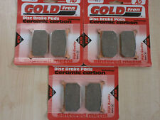 GOLDFREN FRONT & REAR BRAKE PADS (3x Sets) KAWASAKI GPZ 1100 (B2) 1983 GPZ1100