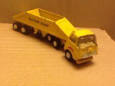 Vintage Tiny Tonka Bottom Dump Truck #655 yellow 1970's USA