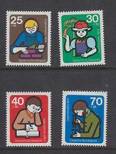 WEST GERMANY MNH STAMP DEUTSCHE BUNDESPOST 1974  YOUTH WELFARE SG 1696-1699