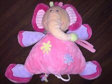 Nattou Spieluhr Plüschtier Kuscheltier Elefant Pink Rosa Geflochten Blau LaLeLu