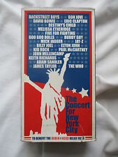 THE CONCERT FOR NEW YORK CITY 2001 auf 296 min. VHS = MEHR+LÄNGER als auf DVD/CD