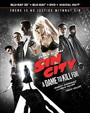 SIN CITY A DAME TO KILL FOR 3D 2D DVD BLU-RAY 3-disc & UV DIGITAL HD COPY