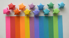 500 Rainbow origami lucky star paper strips