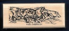 RUNNING WOLF PACK Wildlife Animal Nature Stampin' Up! Wilderness RUBBER STAMP