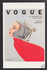 VOGUE MAGAZINE COVER ART REPRINT POSTCARD April 1, 1952 Roger Prigent