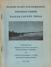 1968 Flood Plain Information Tenmile Creek Dallas County Texas US Army Engineer