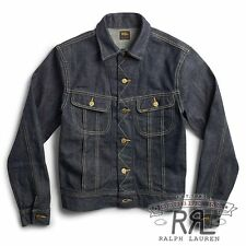 $490 RRL Ralph Lauren Made in USA SELVEDGE DENIM JACKET COAT-MEN-XXL