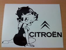 Betty Boop citroen saxo girls vinyl car sticker  decals graphics c2 c3 c4 c5 c6
