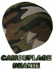 Mens Adults Camouflage Beanie Skull Hat Ski Army Style.