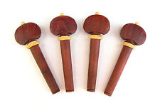 Rosewood Violin 4/4 Tuning Pegs with decorative light wood collar tuner peg set