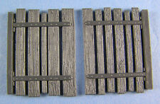 1/35 Scale Wooden Gates (2 pack) Injection moulded plastic diorama accessory