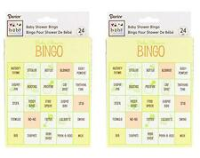 (Pack of 2) Baby Shower Bingo Game, 48 Total Cards, New, Free Shipping