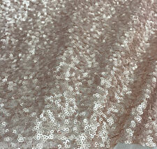"""CHAMPAGNE SEAWEED SEQUINS FABRIC 50""""W DRESS TABLECLOTH WEDDING DECOR BTY"""