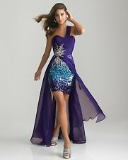 NEW Purple Night Moves By Allure Formal Prom Dress Evening 6