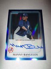 MANNY BANUELOS 2011 Bowman Chrome BLUE REFRACTOR Autograph #10/150 AUTO Braves