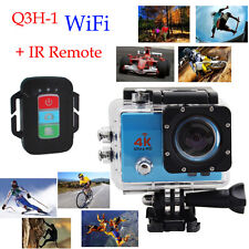 Q3H-1 Pro Ultra HD 4K WIFI Waterproof Sports Action Cam Camera w Remote Control