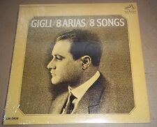 GIGLI - 8 Arias / 8 Songs RCA LM-2826 SEALED