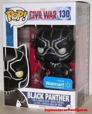 FUNKO POP Marvel CIVIL WAR BLACK PANTHER #130 ONYX GLITTER WALMART EXC IN STOCK