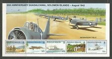 Solomon Is 1992 Battle of Guadalcanal 50th ss--Attractive Topical (727) MNH