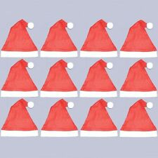 Pack of 12 Felt Santa Hats - Christmas