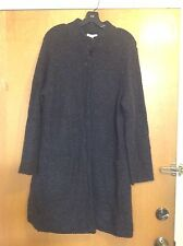 NWT Eileen Fisher Gray Jacket Sweater Sz L