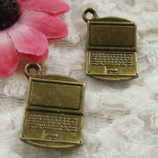 Free Ship 120 pieces bronze plated computer charms 21x13mm #1882